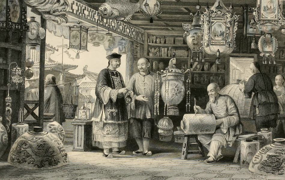 China in a Series of Views Vol. 2 - Show-room of a Lantern Merchant, at Peking (1843)