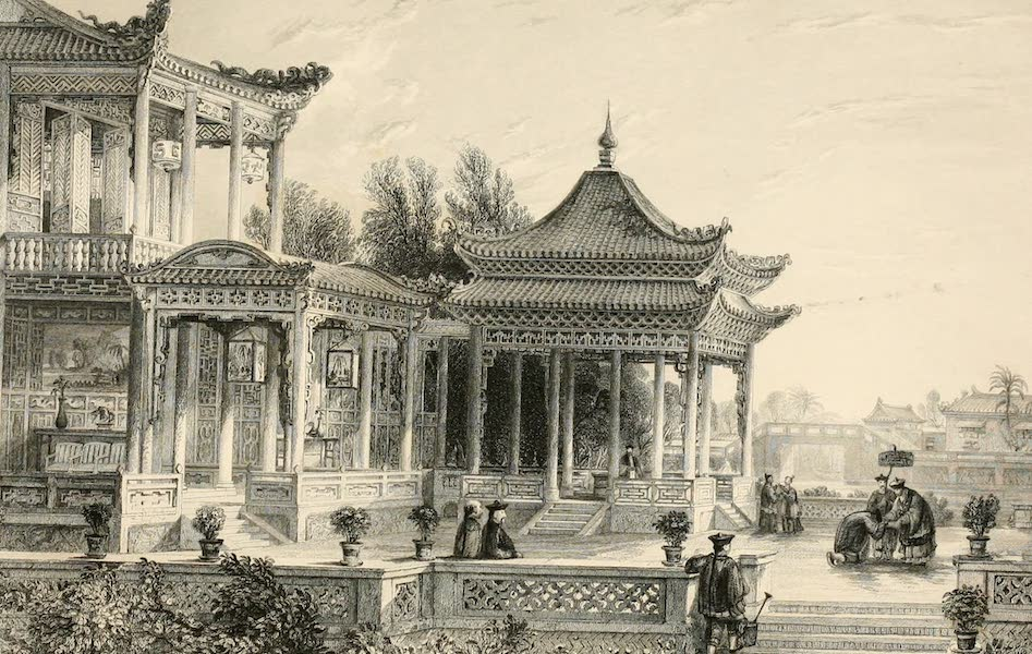 China in a Series of Views Vol. 2 - Pavilion of the Star of Hope, Tong-chow (1843)