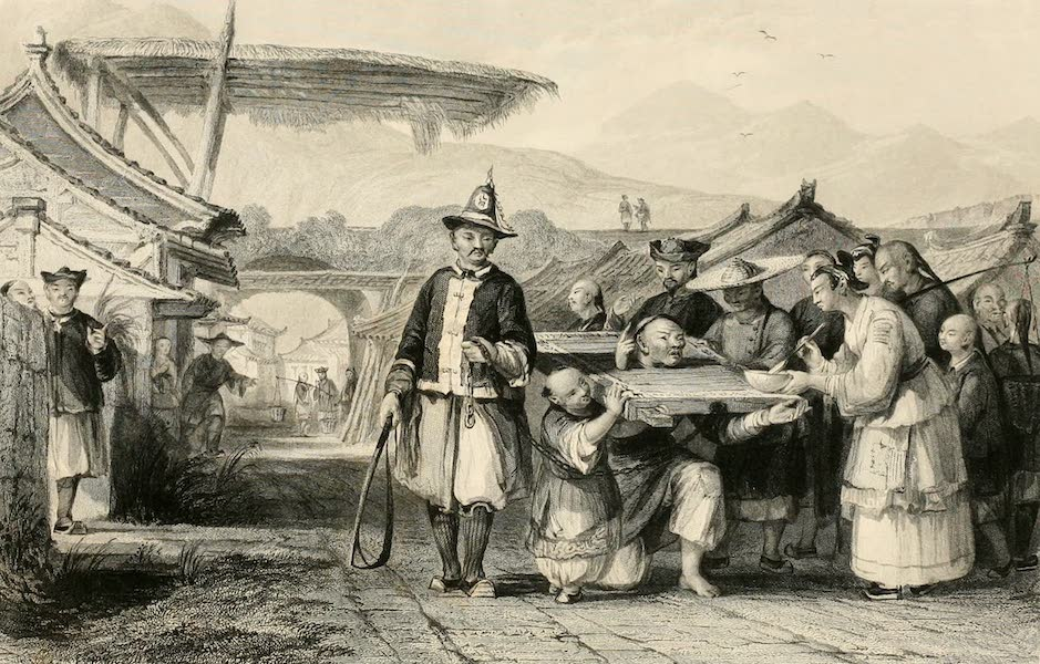 China in a Series of Views Vol. 2 - Punishment of the Telia, or Cangue, Ting-hai  (1843)