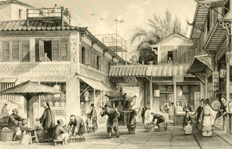 China in a Series of Views Vol. 2 - A Street in Canton (1843)