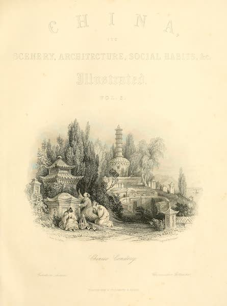 China in a Series of Views Vol. 3 - A Chinese Cemetery (1843)