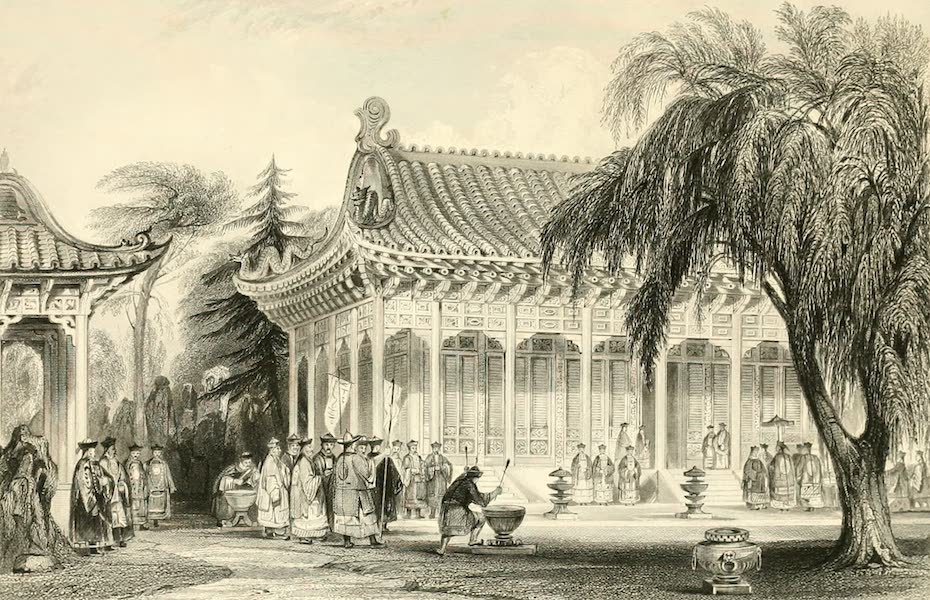 China in a Series of Views Vol. 3 - Hall of Audience, Palace of Yuen-min-yuen (1843)