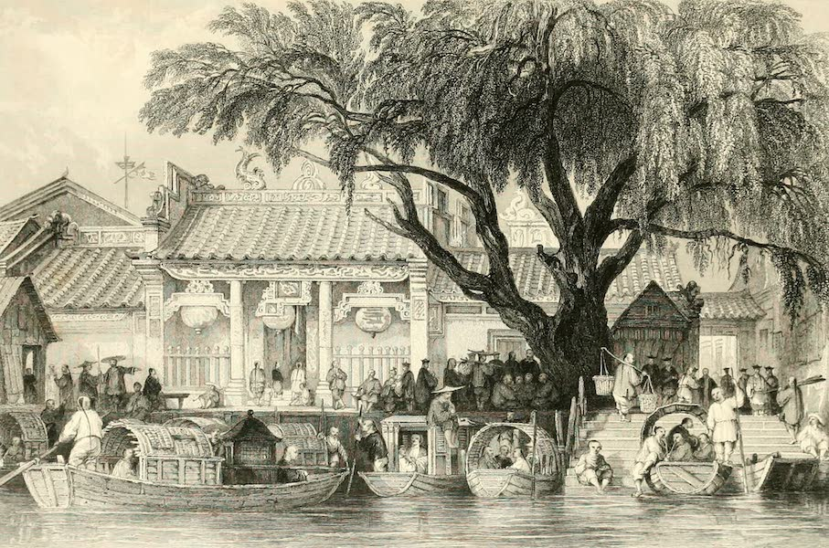 China in a Series of Views Vol. 3 - Landing-place and Entrance to the Temple of Honan (1843)