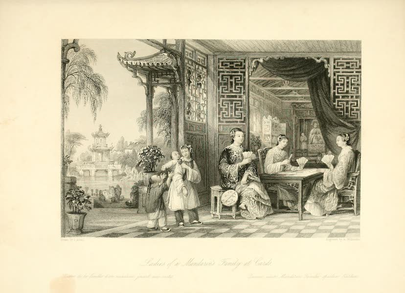 China in a Series of Views Vol. 3 - Ladies of a Mandarin's Family at Cards (1843)