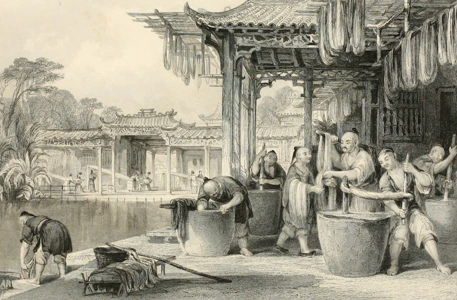 China in a Series of Views Vol. 3 - Dyeing and Winding Silk (1843)