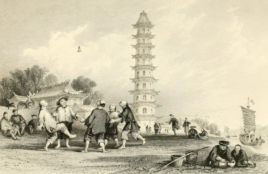 China in a Series of Views Vol. 3 - Playing at Shuttlecock with the Feet (1843)