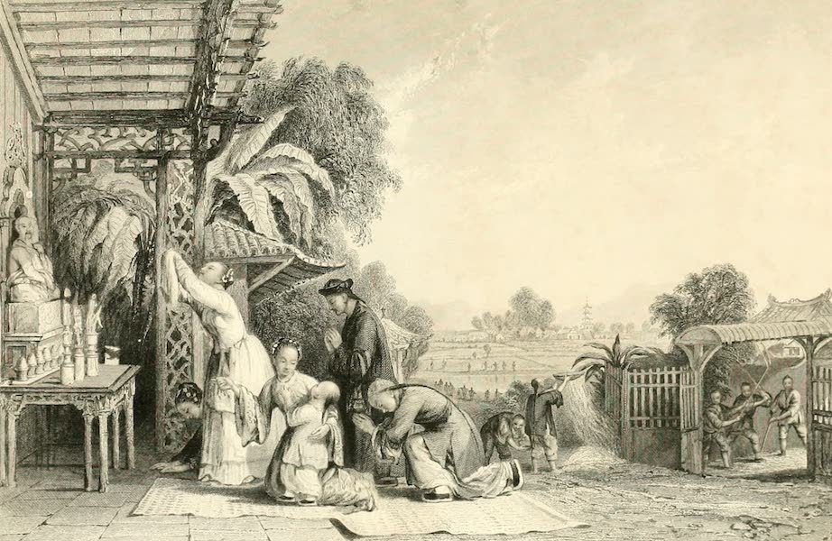China in a Series of Views Vol. 3 - Sacrifice of the Ching-tswe-tsee, or Harvest-moon (1843)