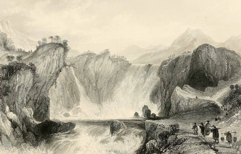 China in a Series of Views Vol. 3 - The Cataract of Shih-tan (1843)