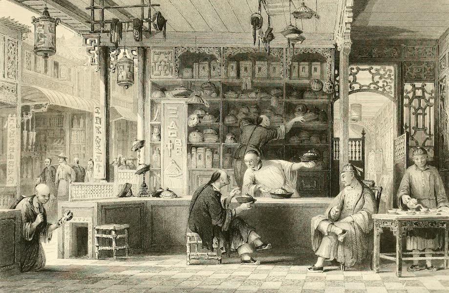 China in a Series of Views Vol. 3 - Cap-vender's Shop, Canton (1843)