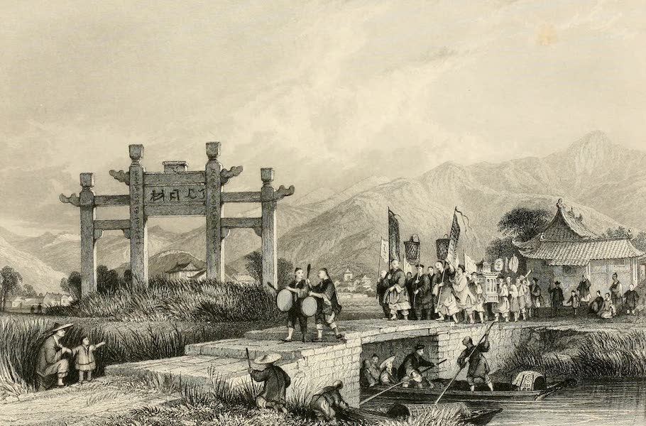 China in a Series of Views Vol. 3 - Scene in the Suburbs of Ting-hae (1843)