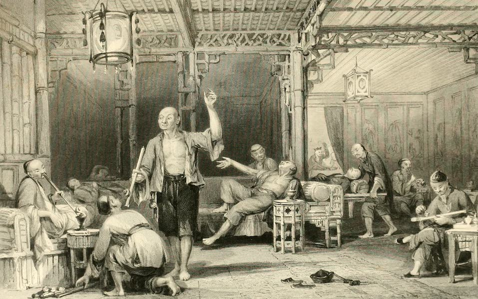 China in a Series of Views Vol. 3 - Opium-smokers (1843)