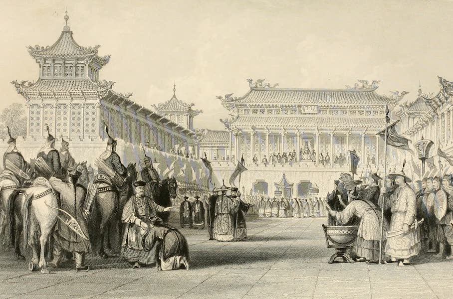 China in a Series of Views Vol. 3 - The Emperor Taou-kwang reviewing his Guards (1843)