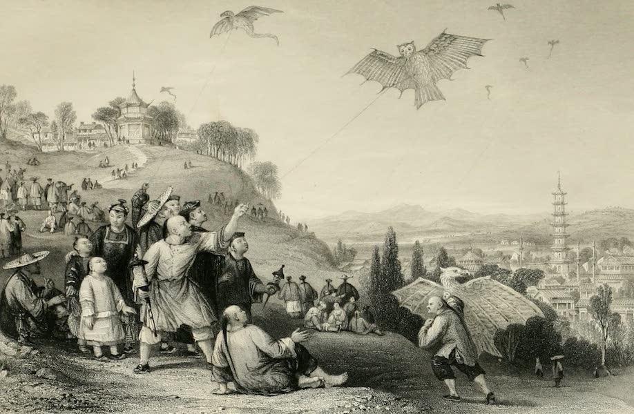 China in a Series of Views Vol. 4 - Kite-flying, at Hae-kwan (1843)