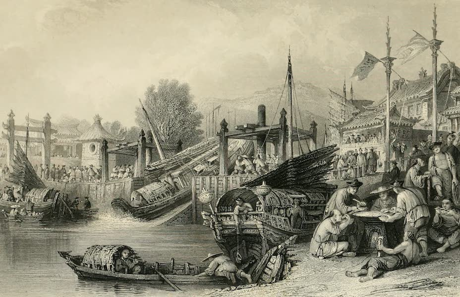 China in a Series of Views Vol. 4 - Junks passing an inclined Plane (1843)