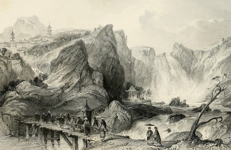 China in a Series of Views Vol. 4 - Cascade of Ting-hoo, or the Tripod Lake (1843)