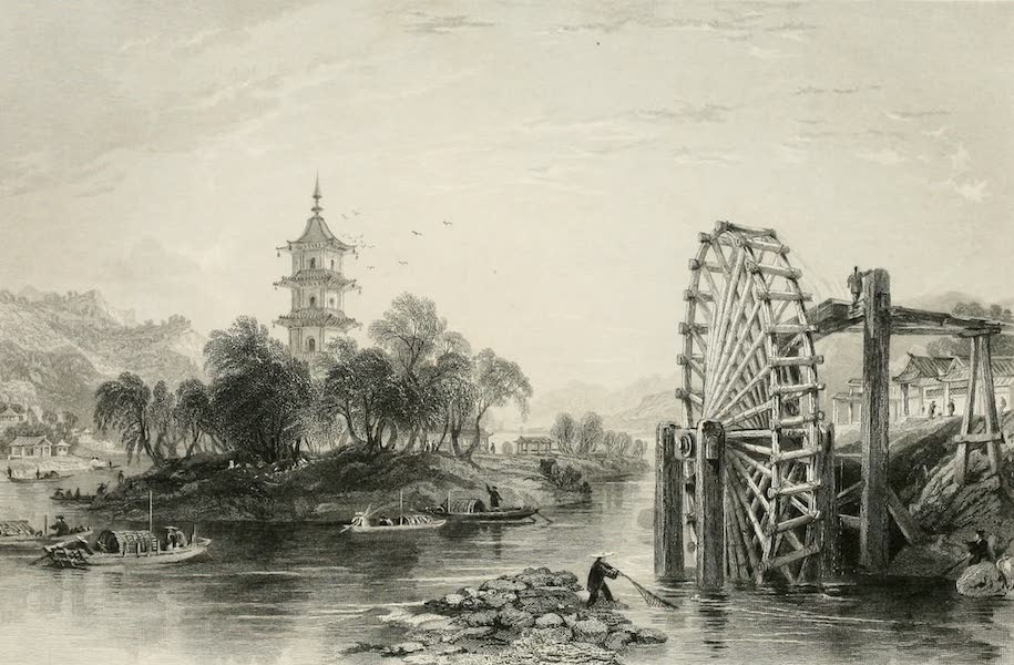 China in a Series of Views Vol. 4 - The Melon Islands, and an Irrigating Wheel (1843)