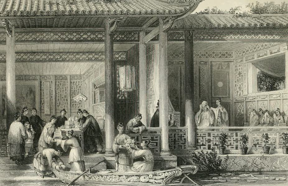 China in a Series of Views Vol. 4 - Arrival of Marriage Presents at the Bridal Residence (1843)