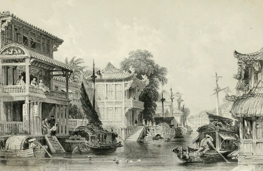 China in a Series of Views Vol. 4 - Scene on the Honan Canal, near Canton (1843)