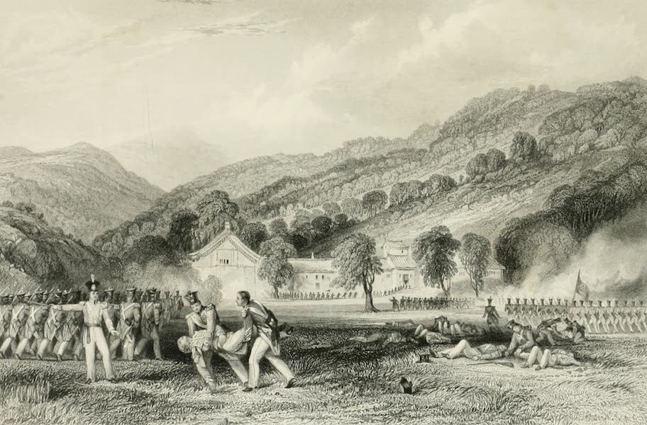 China in a Series of Views Vol. 4 - Joss-House, Chapoo - Death of Colonel Tomlinson (1843)