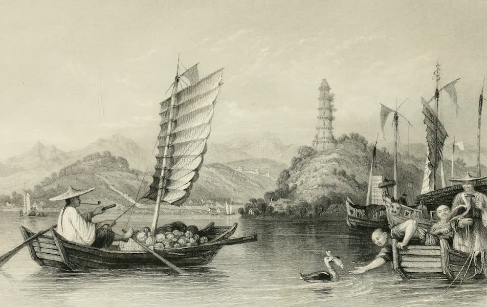 China in a Series of Views Vol. 4 - Chinese Boatmen, Poo-keou (1843)