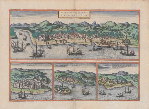 Civitates Orbis Terrarum Vol. 1 - Calechvt Ormvs Canonor S. Georgii Oppidum Mina (1572)