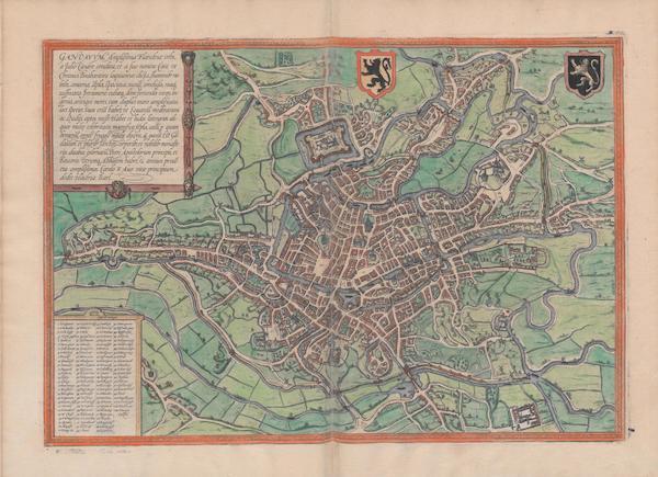 Civitates Orbis Terrarum Vol. 1 - Gandavvm (1572)