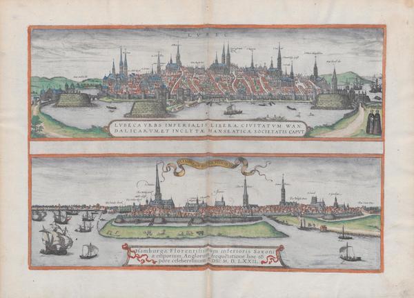 Lvbeca Vrbs Imperialis Libera Hamburga 1572