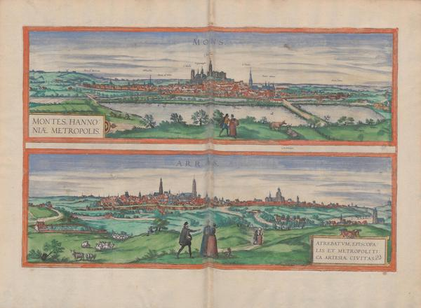 Civitates Orbis Terrarum Vol. 1 - Montes Hannoniae Metropolis Arras (1572)