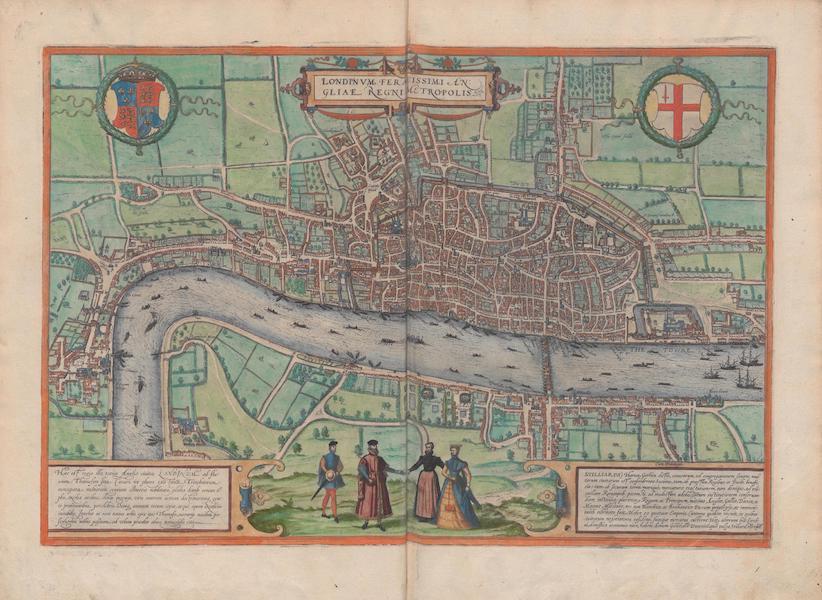 Civitates Orbis Terrarum Vol. 1 - Londinvm Feracissimi Angligae Regni Metropolis (1572)
