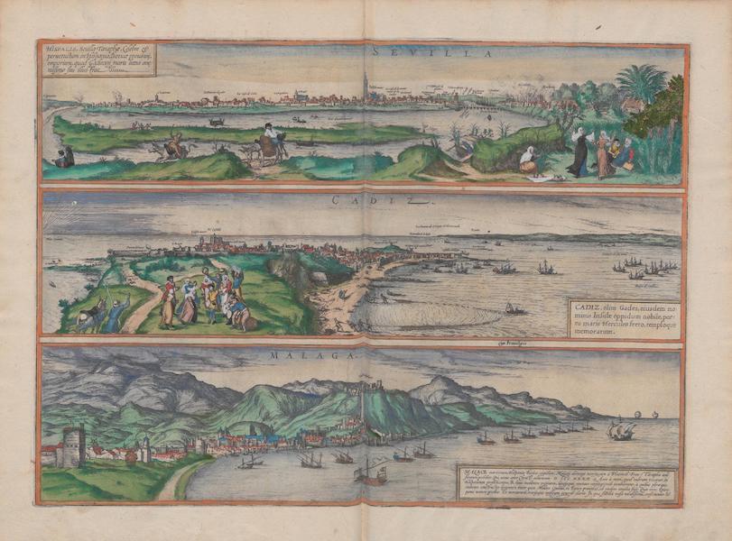 Civitates Orbis Terrarum Vol. 1 - Sevilla, Cadiz, Malaga (1572)