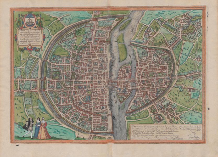 Civitates Orbis Terrarum Vol. 1 - Ivtetia Vulgari Nomina Paris (1572)