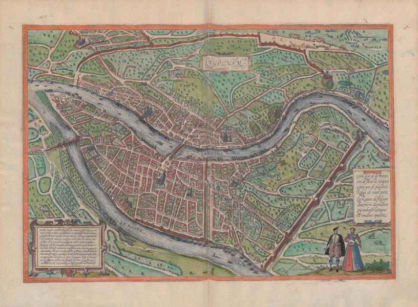Civitates Orbis Terrarum Vol. 1 - Lvgdvnvm, Lyon (1572)