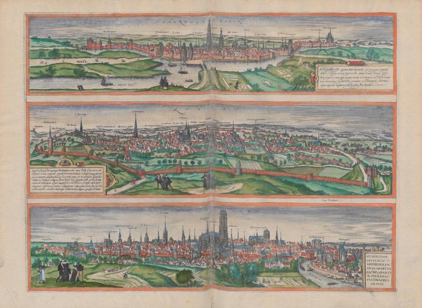 Civitates Orbis Terrarum Vol. 1 - Tshertogenbosch Loeven Machelen (1572)