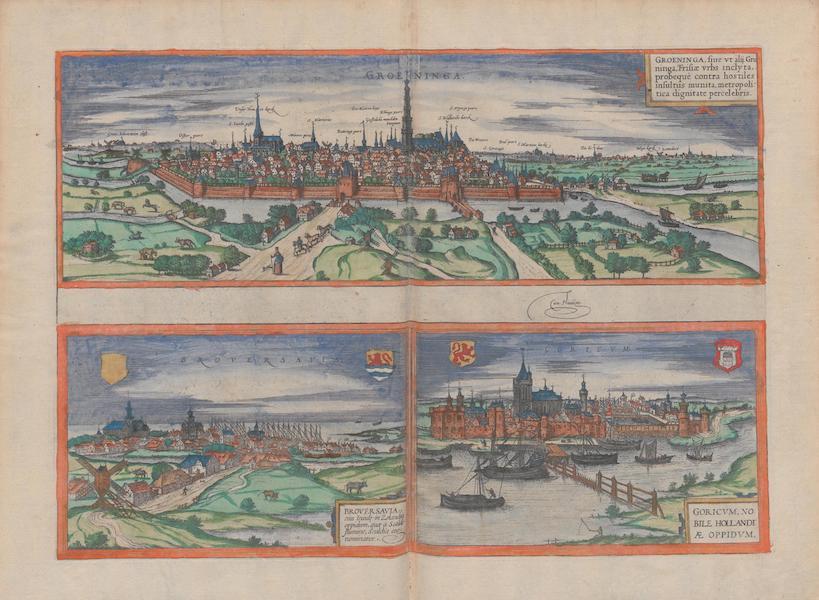 Civitates Orbis Terrarum Vol. 1 - Groeninga Broversavia Goricvm (1572)
