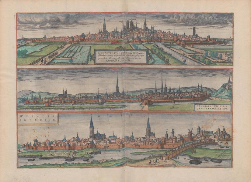 Civitates Orbis Terrarum Vol. 1 - Monasterivm Osnabrvgvm Wesalia Inferior (1572)