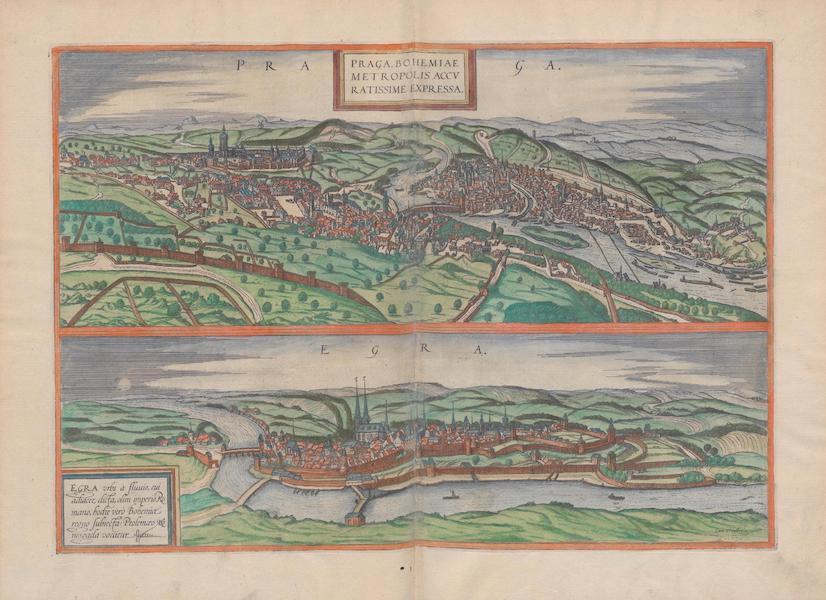 Civitates Orbis Terrarum Vol. 1 - Praga Egra (1572)