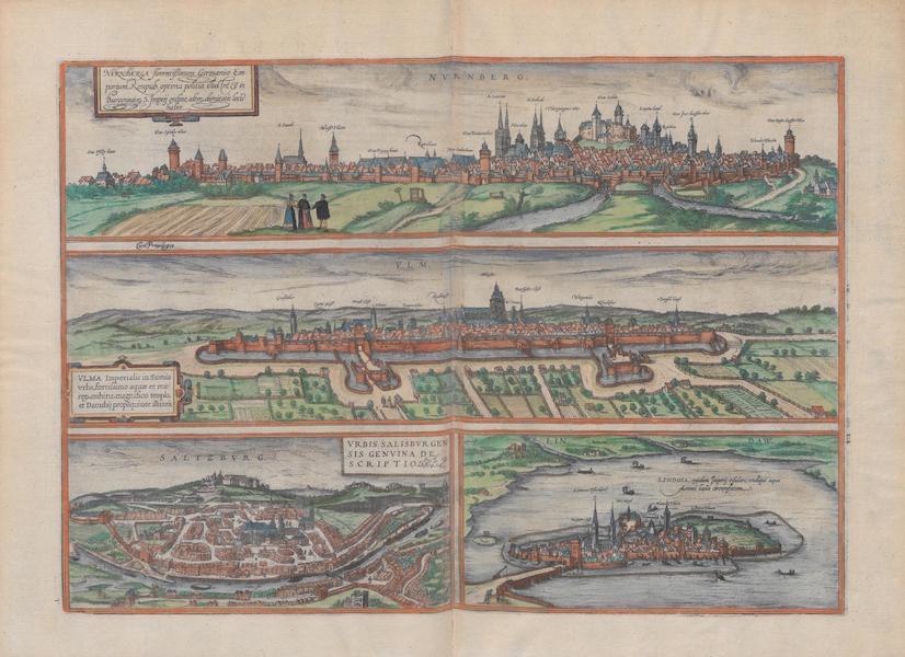 Civitates Orbis Terrarum Vol. 1 - Nvrnberg Vlm Saltzbvrg Lindaw (1572)