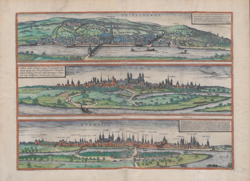Civitates Orbis Terrarum Vol. 1 - Heidelberga Spira Wormatia (1572)