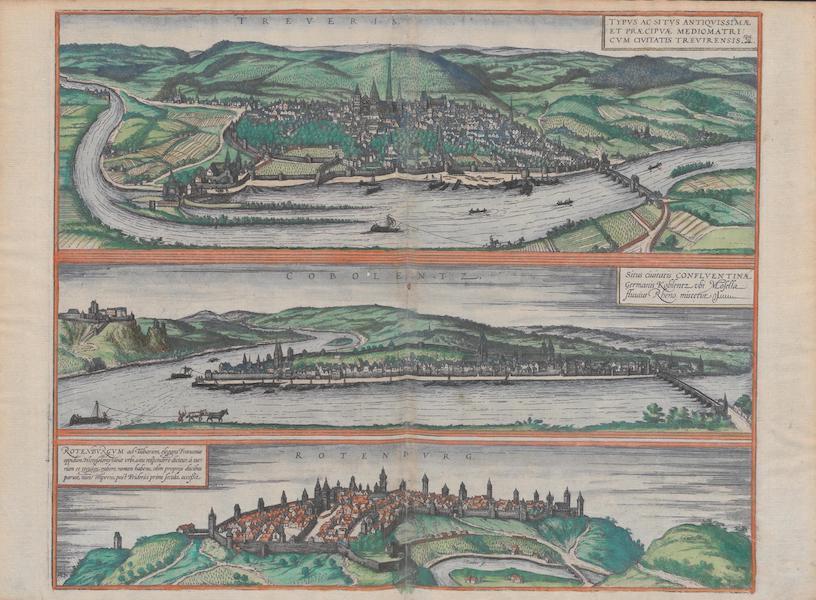 Civitates Orbis Terrarum Vol. 1 - Treveris Cobolentz Rotenbvrg (1572)