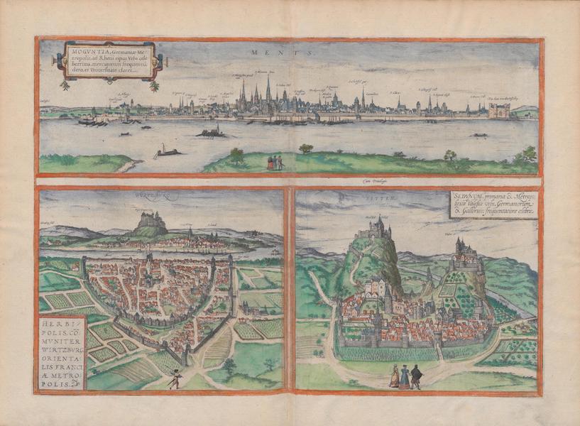 Civitates Orbis Terrarum Vol. 1 - Ments Wortzbvrg Sitten (1572)