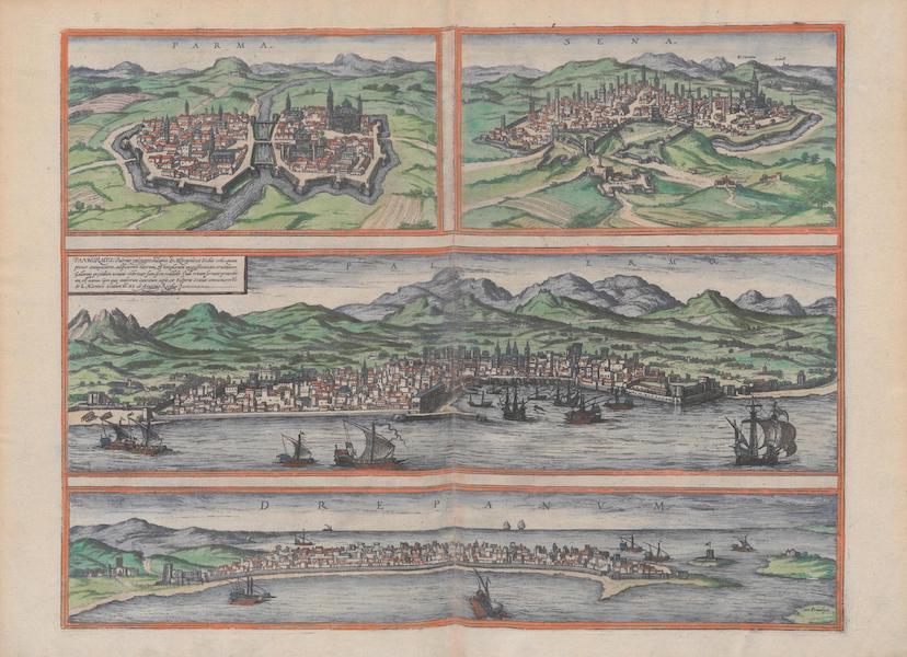 Civitates Orbis Terrarum Vol. 1 - Parma Sena Palermo et Drepanvm (1572)