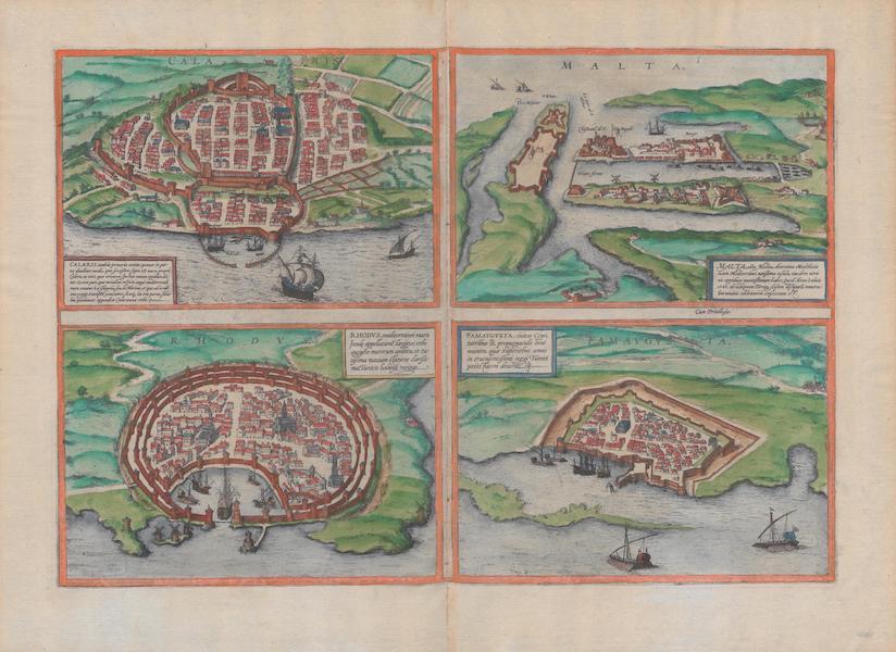 Civitates Orbis Terrarum Vol. 1 - Calaris Malta Rhodvs et Famavgvsta (1572)