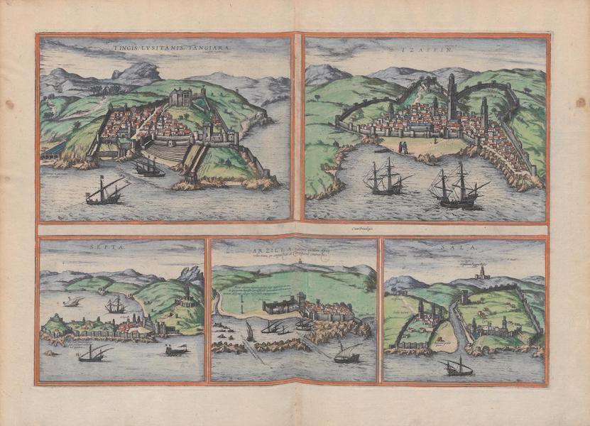 Civitates Orbis Terrarum Vol. 1 - Tingis Lvsitanis Tangiara Tzaffin Septa Arzilla et Sala (1572)
