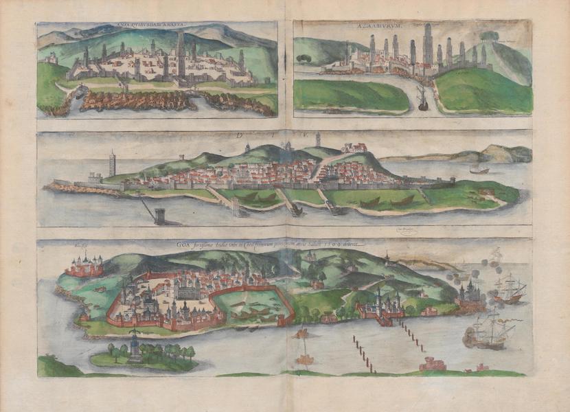 Civitates Orbis Terrarum Vol. 1 - Anfa Qvibsdam Anafea Azaamvrvm Div Goa (1572)