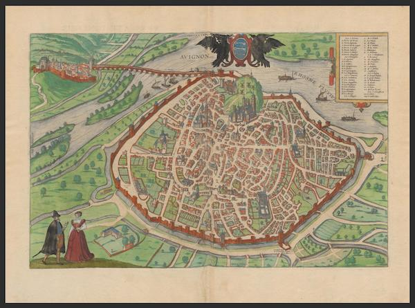 Civitates Orbis Terrarum Vol. 2 - Avignon (1575)