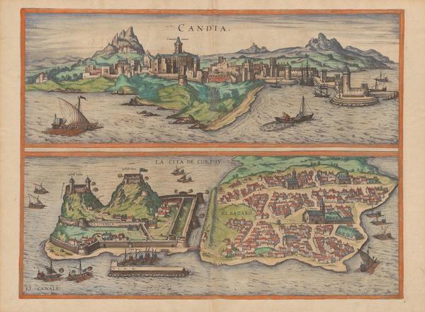 Civitates Orbis Terrarum Vol. 2 - Candia La Cita De Corphv (1575)
