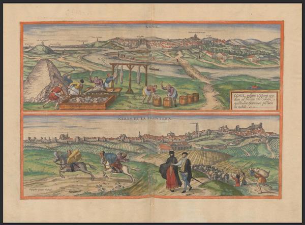 Civitates Orbis Terrarum Vol. 2 - Conil Xeres De La Frontera (1575)