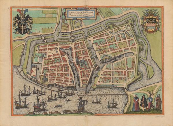 Civitates Orbis Terrarum Vol. 2 - Emvda Vulgo Embden (1575)