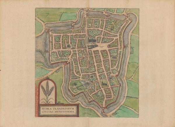 Civitates Orbis Terrarum Vol. 2 - Hypra Flandriarvm Civitas Mvnitissima (1575)