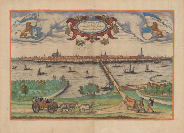 Civitates Orbis Terrarum Vol. 2 - Icon Ciuitatis Campensis (1575)
